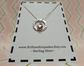Sterling silver thank you teacher gift jewelry keepsake