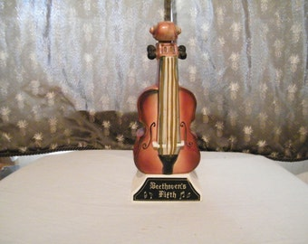 Musical Violin Decanter plays Beethovans fifth, emtpy to be filled with your beverage, designed as Cello or Viola, musician or teacher gift