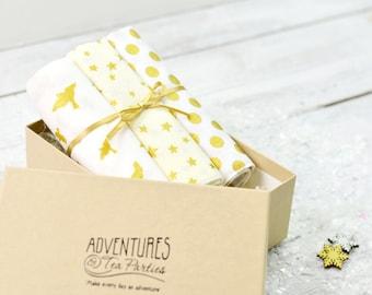Christmas Handkerchief Set | Pocket Squares | Gifts for her | Hankies | Christmas hankies | Xmas handkerchiefs | Set of hankies | Hanky set