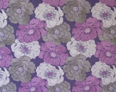 RESERVED FOR MICHELLE Cotton Fabric, Purple and Gray Flowers, Wilmington Prints, Purple Haze,  Quilting Fabric, Craft Fabric
