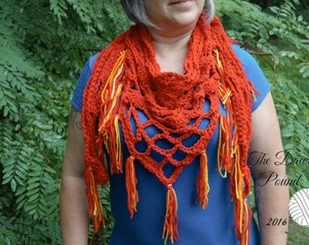 Flames Scarf Hand-Crocheted, Sale, Wrap, Lacy, Shoulder Wrap, Shrug, Gift for Her, TheGriffinsCreations