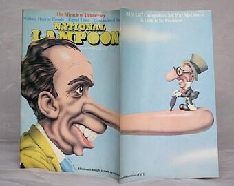 Vintage National Lampoon Magazine - Richard Nixon - Political Humor - Vintage Magazine - Presidential Humor - Robert Grossman Cover