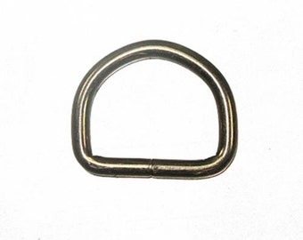 "1"" Black Welded D-Ring Gunmetal - 10 Pack"