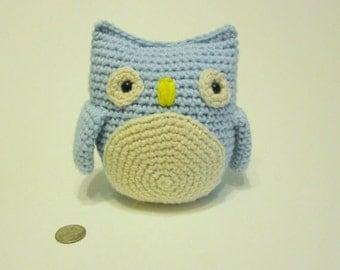 Blue Owl, Owl Nursery, Owl Baby Shower, Owl Birthday Party, Stuffed Owl Toy, Kawaii Plush, Kawaii Plushies, Amigurumi Owl, Kids Toys, Soft