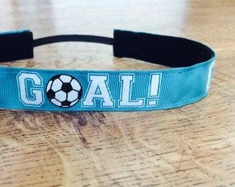 Turquoise soccer headband. teal soccer headband, Soccer headband, girls soccer headband, non slip soccer headband, soccer hair accessory