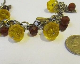 60's Sweetheart Charm Bracelet Lucite