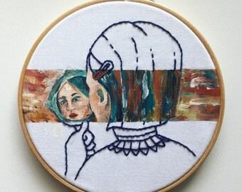 Mirror mirro / Original hoop art.