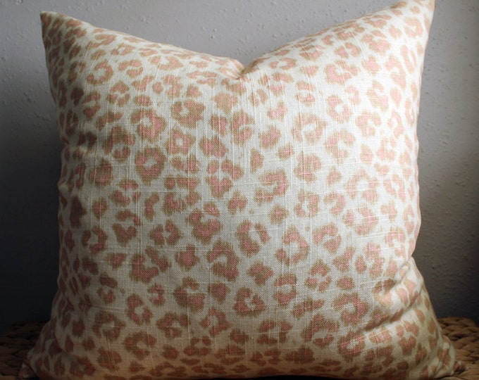 blush leopard print pillow cover - COVER ONLY