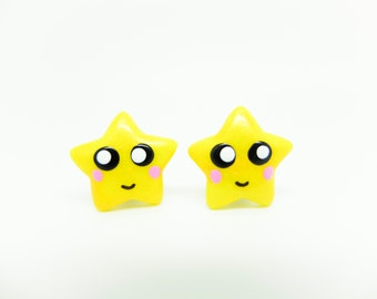 kawaii star earring studs