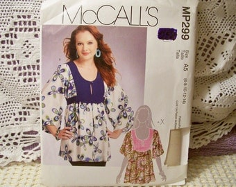 McCall's Pattern - MP 299 - Misses' Tunics - Size 6-8-10-12-14 - Factory Fold, Uncut Pattern