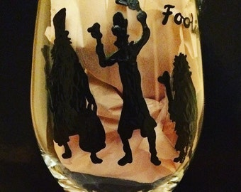 Haunted Mansion wine glass