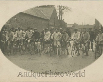 Bicycle race athletes antique sport photo