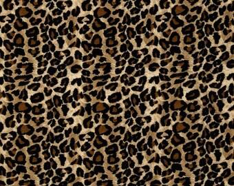 "Cheetah Leopard curtain valance 41"" x 15"" in 100% cotton - handmade new."