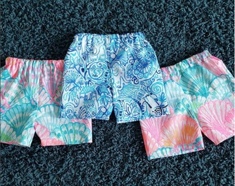 Baby Shorts Lilly Pulitzer Fabric