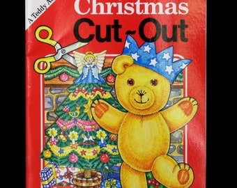 Vintage Book Children's Activity Christmas Cut-out Paper Doll Paper Craft