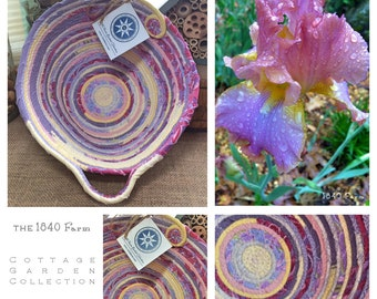 Afternoon Delight Iris Inspired Basket - The Cottage Garden Collection - Made to Order