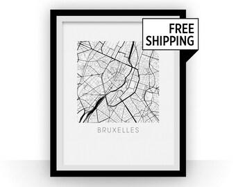 Bruxelles Map Print