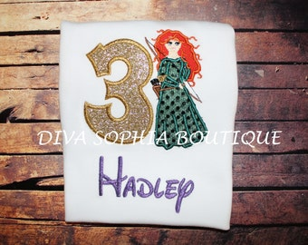 Brave Merida Bodysuit- T-shirt - Personalized - Birthday