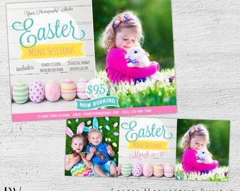 Easter Mini Session Marketing Board, Facebook Cover, Photoshop Template, Easter Mini Session Template, Photography Marketing - 06-004