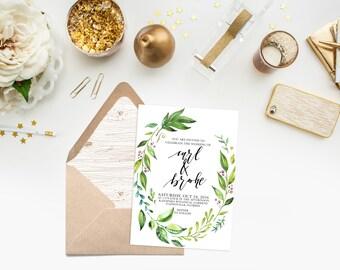 Printable Wedding Invitation / Bridal Shower / Baby Shower / Birthday / Party / Digital Download