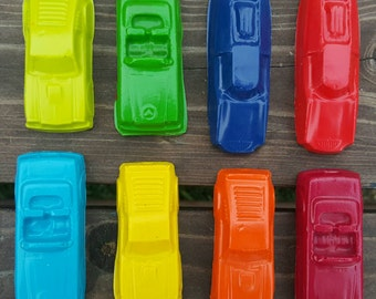 Toy Car Crayons set of 8 - party favors