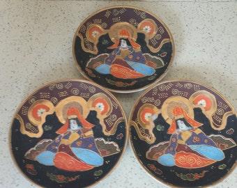 Satsuma Style Saucers - Set of 3