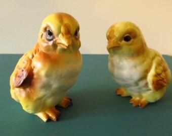 Lefton Chicks, Peeps, Figurines, Pottery, Japan