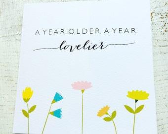 Even lovelier birthday card flowers