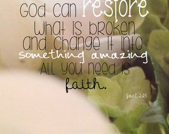 God Can Restore Etsy