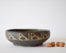 Saxbo - huge bowl - by Kirsten Weeke - Danish mid century pottery - Denmark