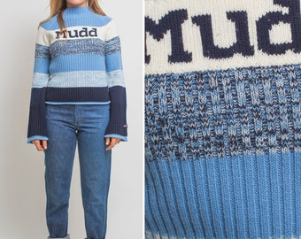Vintage MUDD Sweater Striped 1990s KNIT Mudd sweater 90s pullover SWEATER