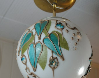 Vintage Fun, Funky Decorated Globe Pendant Light