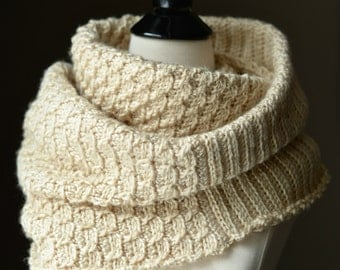 "Crochet Pattern: ""Knit-Look"" Infinity Stitch Cowl & Poncho **Permission to sell finished items"