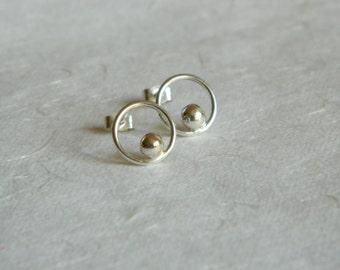 Silver Dot Studs - Sterling Silver