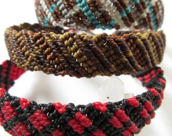 X3  Friendship Bracelets Handmade Surf/Bohemian wristband/ X1 Red Black X1 Brown X1 Brown and Blue