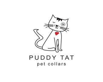 Cat logo instant download, pet products logo, a vet logo, toys logo, clothing logo, cute cat logo, cat clip art.