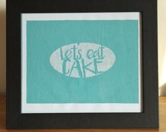 Cake Cross Stitch Pattern - food, baking design