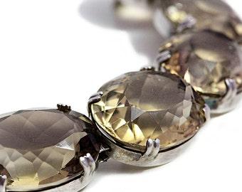 Smoky Quartz 123 carat Bracelet Silver Jewelry