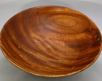 Hand turned topical hardwood bowl