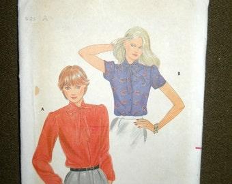 HOTSALE Vintage 70's Bow Collar Secretary Office Blouse sz8-12