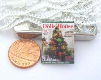 dollhouse magazine  christmas  12th scale miniature