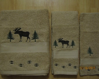 Moose & Tree's  3 Piece Towel Set, Choose with Tracks or No Tracks