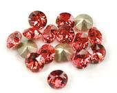 Swarovski 39ss 1088 Padparadscha Xirius Chatons 8mm Crystal