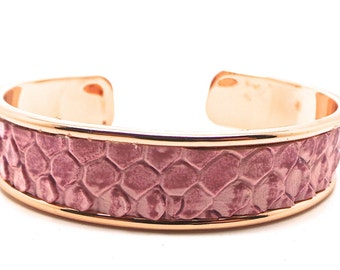 Croco pink way Bangle Bracelet
