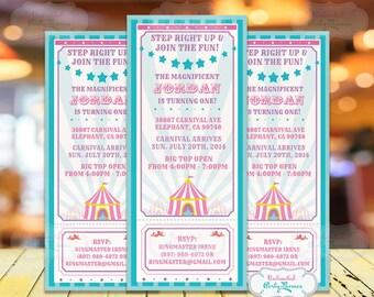 Circus Invitation - Carnival Party Invitation - Circus Birthday Party