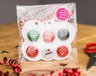 Christmas Gift Tags / 6 Christmas Tag Pack / Funny Christmas Tags / Holiday Gift Tags / Xmas Tags