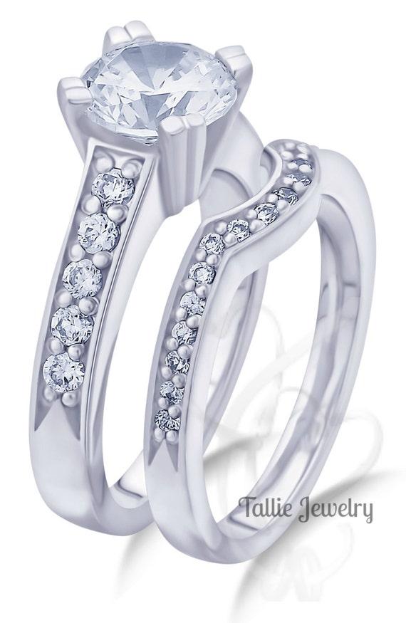 Matching Wedding RingsBridal Rings Set14K Gold Diamond