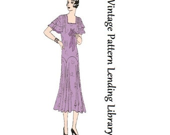 1930s Ladies Afternoon Tea Frock - Reproduction Sewing Pattern #T3221