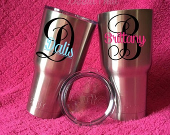 Yeti Name Decal // RTIC Name Decal // Custom Yeti Decal // Custom RTIC Decal // Decal Only