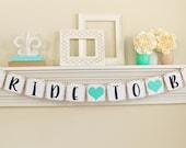 Bride To Be Banner, Bridal Shower, Bride To Be Sign, Bridal Shower Banners, Bachelorette Party, Lt. Teal Bridal Shower Decor, B221